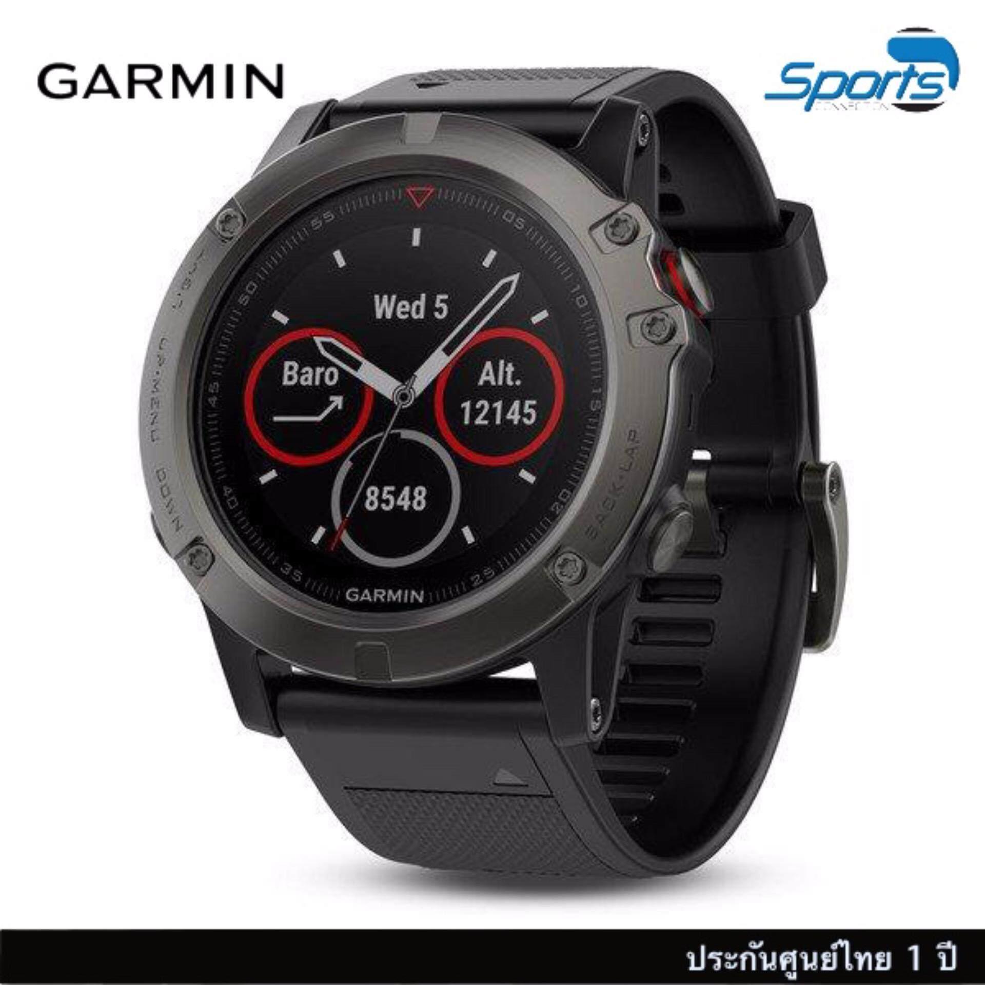 สอนใช้งาน  แพร่ Garmin  5X Slate Gray Sapphire with Black Band นาฬิกาข้อมือ GPS มัลติสปอร์ตพร้อมคำแนะนำแผนที่สีสันครบถ้วน
