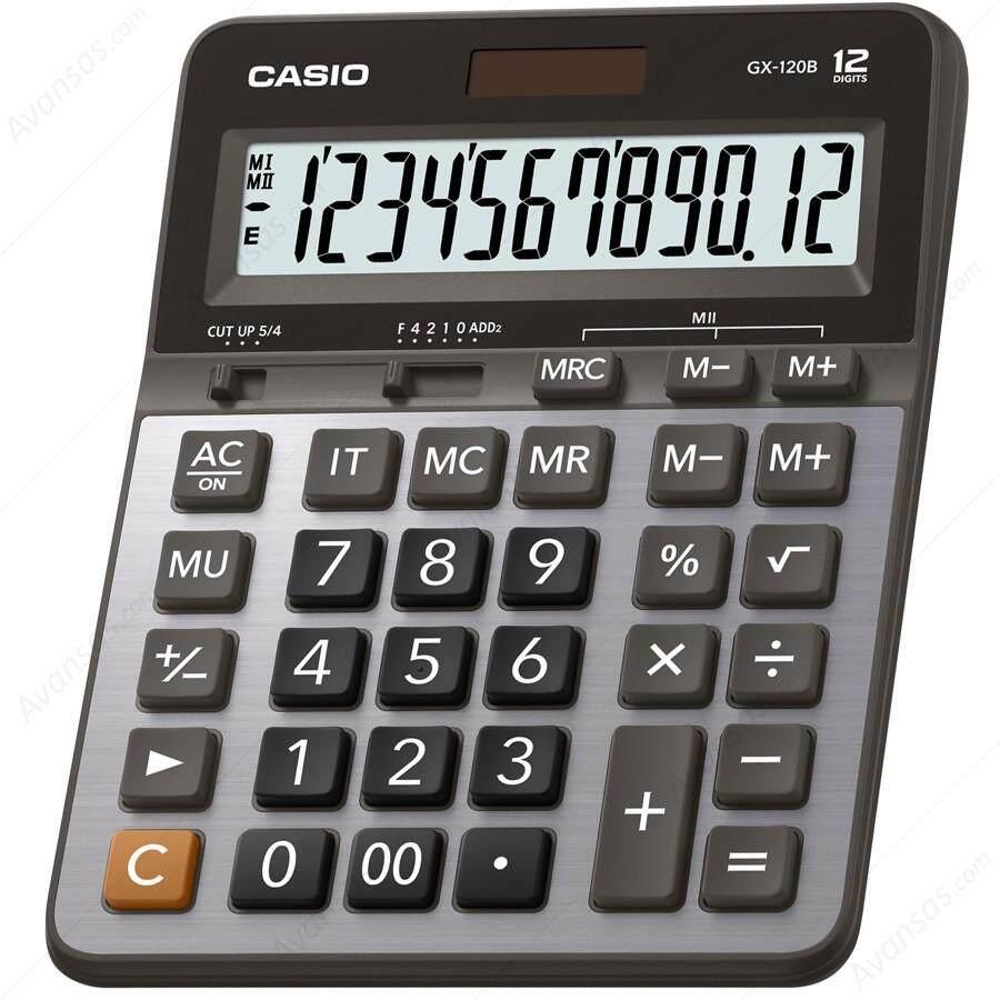 ขายดีมาก! มาใหม่ ของแท้ ส่งฟรี ! [ จัดส่ง Kerry]Casio เครื่องคิดเลขตั้งโต๊ะ รุ่น GX-120B ของแท้