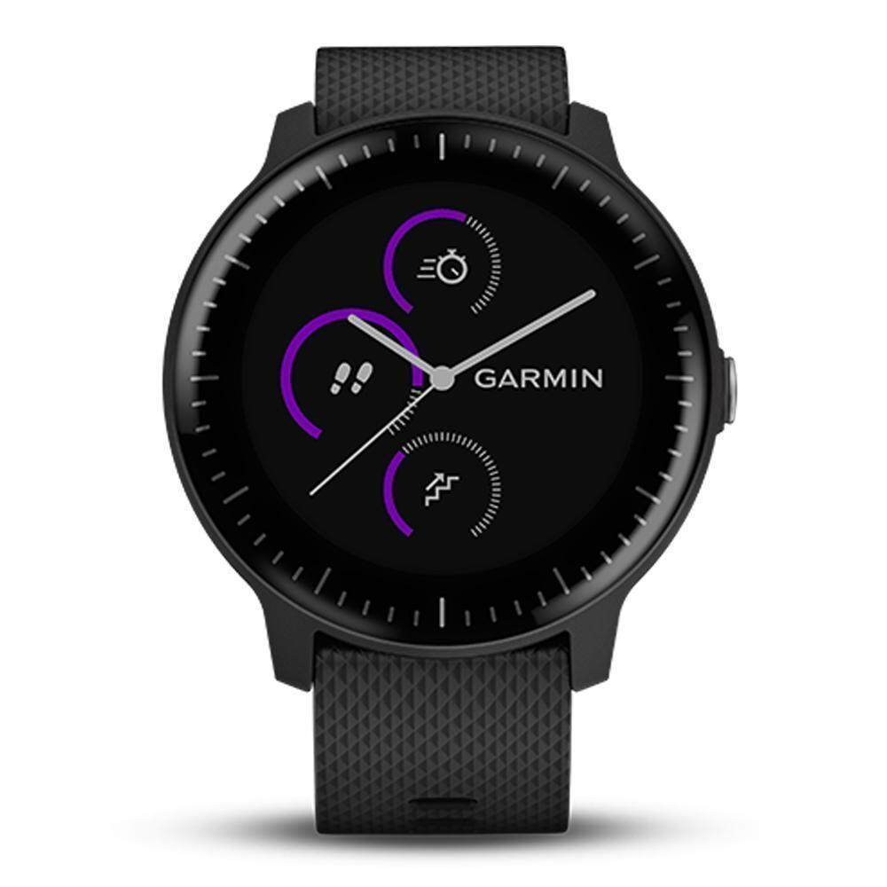 ยี่ห้อนี้ดีไหม  นครปฐม Garmin Vivoactive 3 Music GM-010-01985-20 Smart Digital Black Silicone Unisex Smartwatch