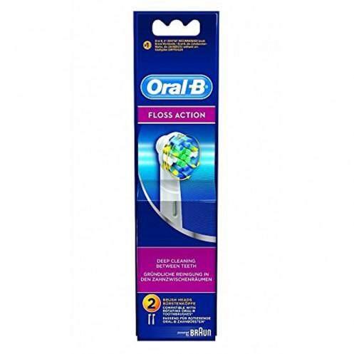 แปรงสีฟันไฟฟ้า รอยยิ้มขาวสดใสใน 1 สัปดาห์ นครศรีธรรมราช ออรัลบี ฟลอส แอ็คชั่น หัวแปรงสีฟันไฟฟ้ารีฟิล รุ่น EB25แปรงสีฟันผลิตภัณฑ์ดูแลช่องปากและฟัน