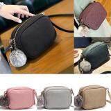 กระเป๋าสะพายพาดลำตัว นักเรียน ผู้หญิง วัยรุ่น ชุมพร กระเป๋าสะพายข้าง mini Bag  แถมปอมๆฟรี  กระเป๋าปอมๆ มี 6 สี YK 001