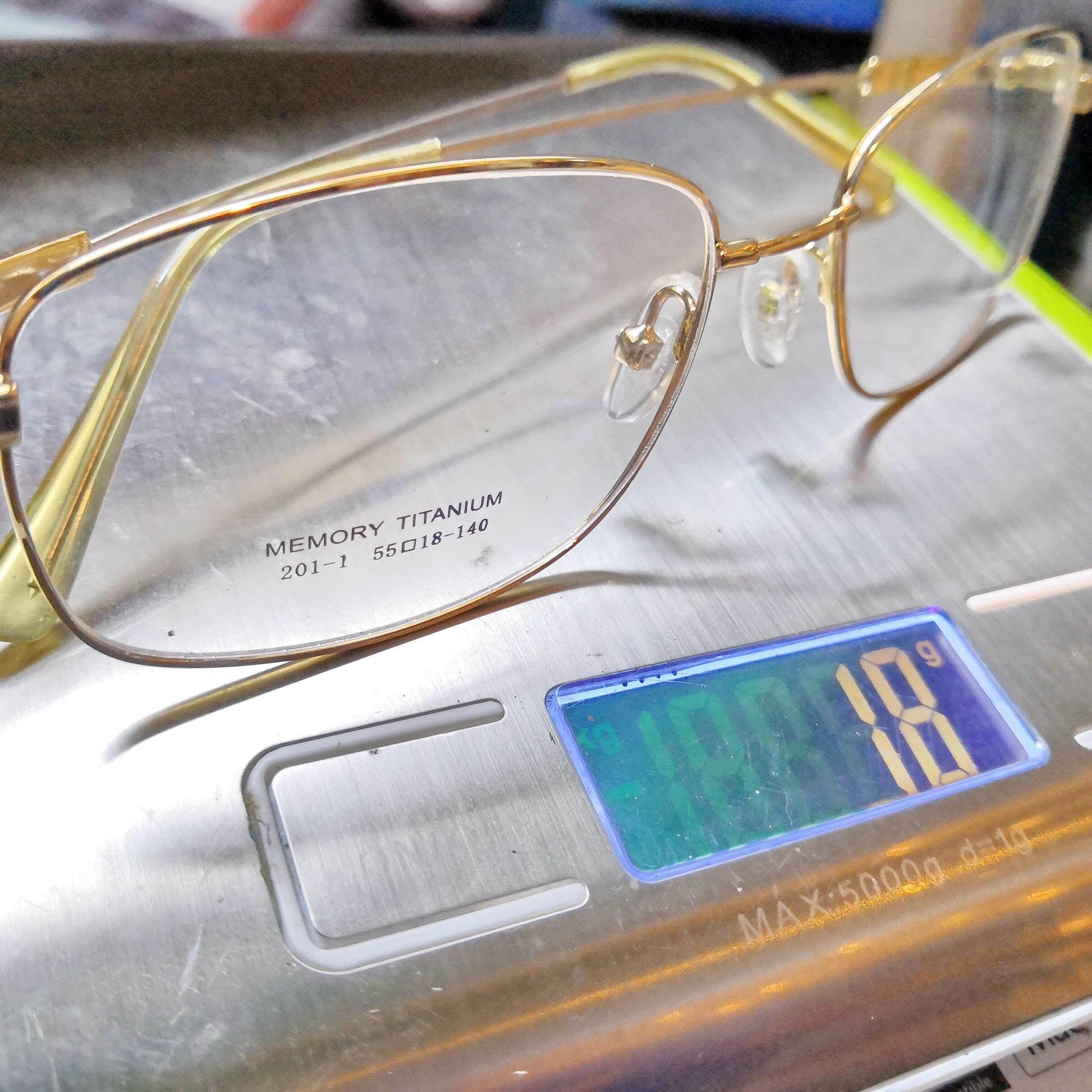 เก็บเงินปลายทางได้ รหัส 201-1G กรอบเบต้า-ไทเทเนี่ยม สีทอง ทรงสี่เหลี่ยม ส่งฟรี kerry