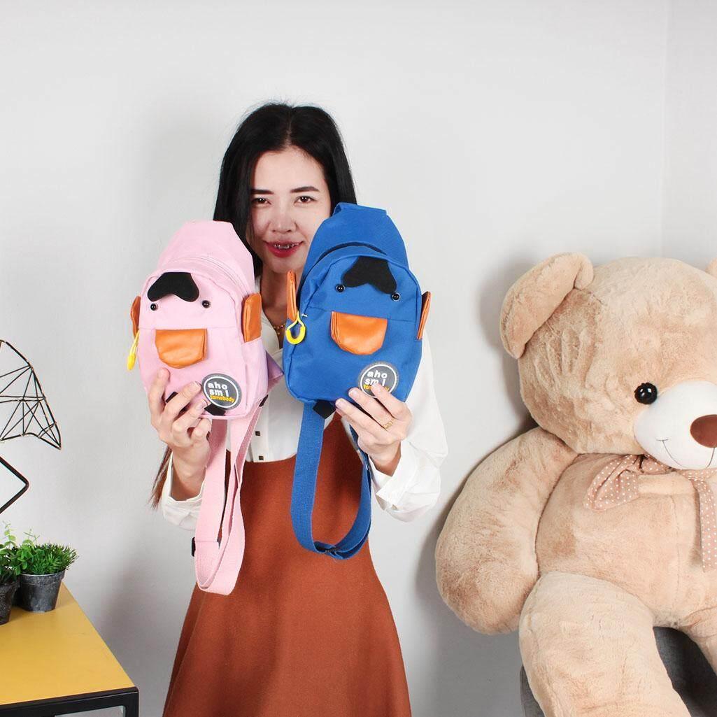 กระเป๋าถือ นักเรียน ผู้หญิง วัยรุ่น ชุมพร unlimitedshop UN1083 กระเป๋าคาดอกแพนกวินน่ารักผ้าโพลีเอส