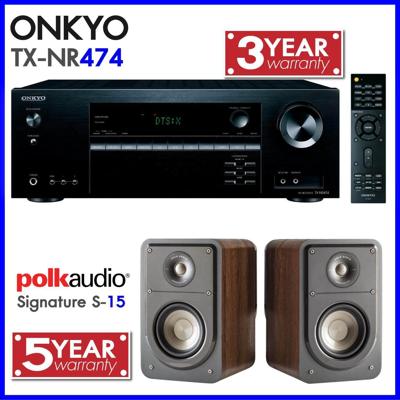 สอนใช้งาน  สกลนคร ONKYO TX-NR474 + POLK S15 Onkyo ประกัน 3 ปี Polk ประกัน 5 ปี รับประกันศูนย์ PowerBuy