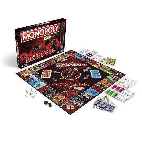 MONOPOLY MARVEL DEADPOOL EDITION BOARD GAME เกมส์เศรษฐี บอร์ดเกมส์  โมโนโพลี่
