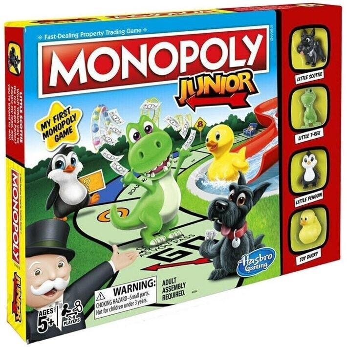 HASBRO ORIGINAL MONOPOLY JUNIOR NEW TOKENS EDITION เกมส์เศรษฐี บอร์ดเกมส์ มาริโอ้ คาร์ท เกมเศรษฐี ของแท้  โมโนโพลี่