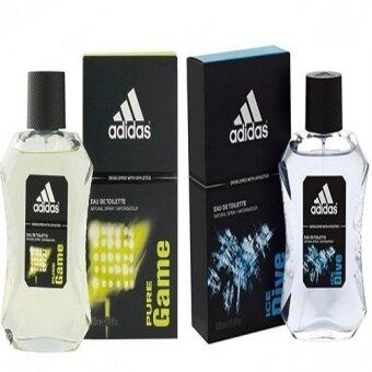 Adidas Ice Dive Adidas for men EDT 100 ml +Adidas Pure Game For men 100 ml. พร้อมกล่อง