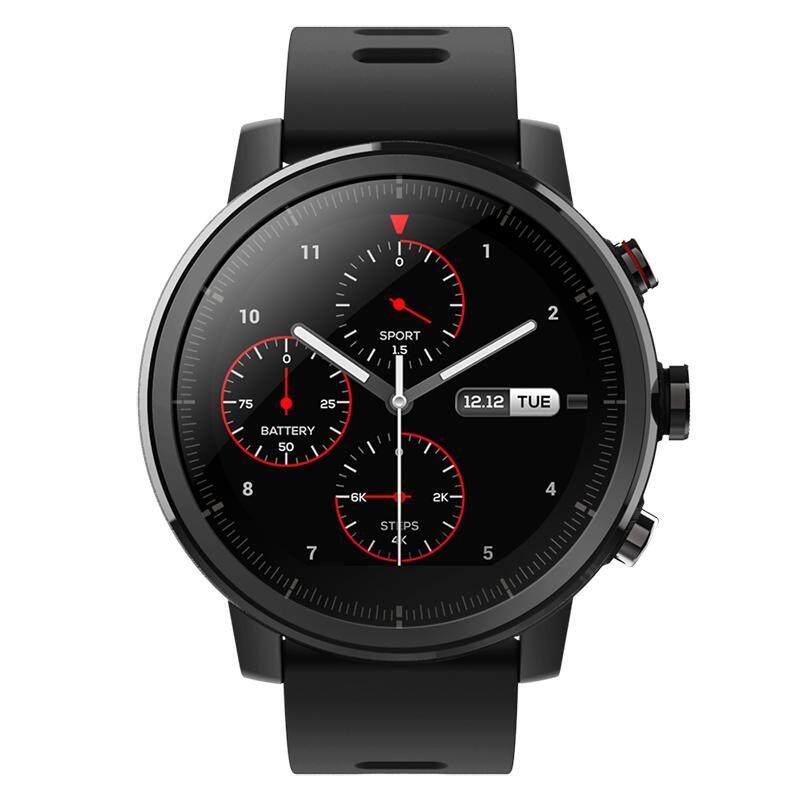 [Wevery]- Xiaomi นาฬิกาอัจฉริยะ/สปอร์ตสมาร์ทวอช Amazfit Stratos สีดำ สมาร์ทวอช สมาร์ทวอทช์ นาฬิกาออกกำลัง นาฬิกาอัจฉริยะ นาฬิกาสมาทวอช ส่ง Kerry เก็บปลายทางได้