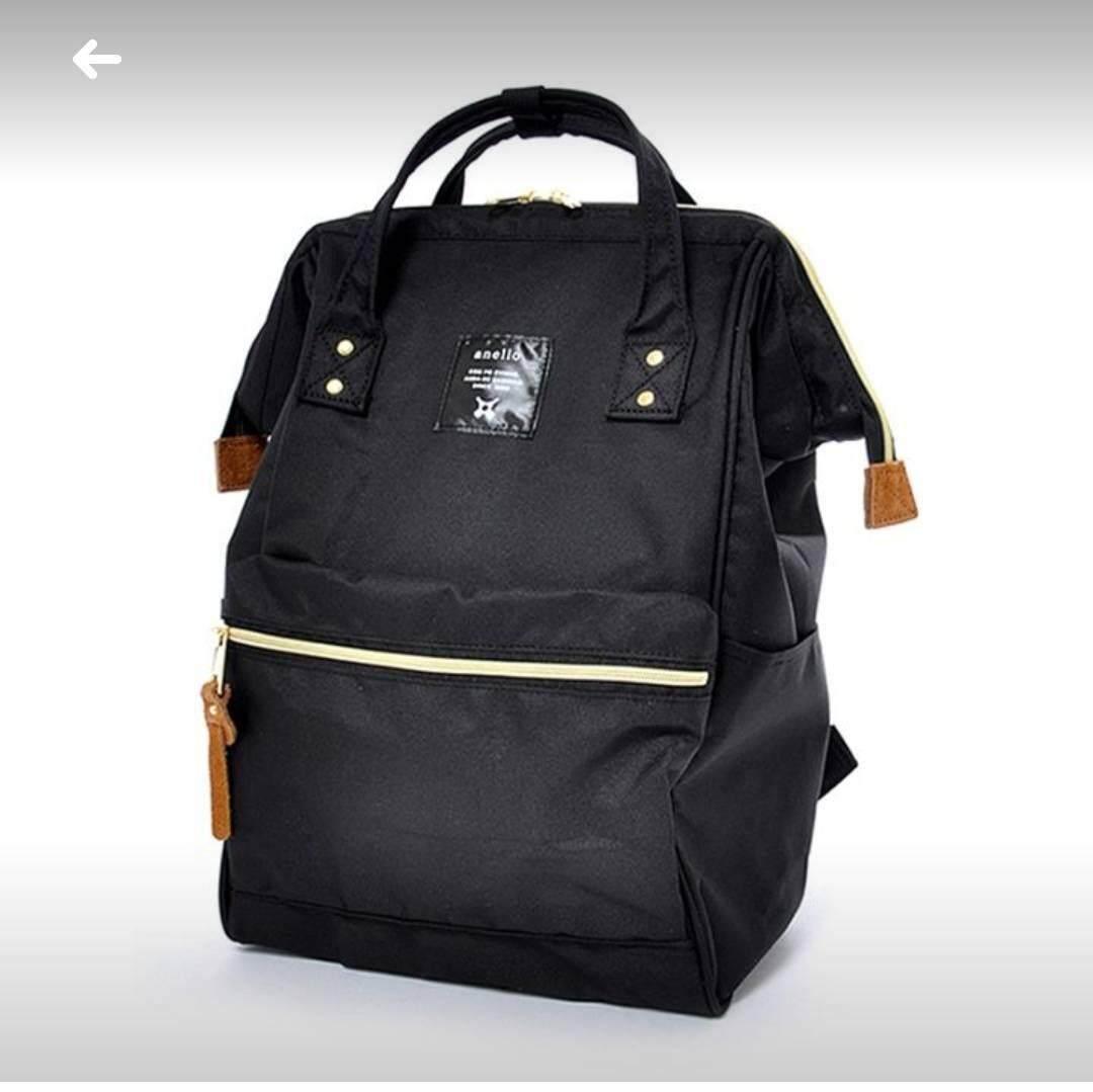 การใช้งาน  น่าน Anello Regular Backpack ดำชาโคล
