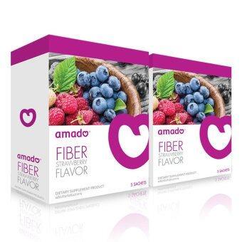 Amado Fiber Plus ดีทอกซ์ลำไส้ (2 กล่องx5 ซอง)