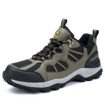 Aquatwo รองเท้าหนังแท้ กันน้ำอย่างดี สำหรับลุยป่า ปีนเขา รุ่น304 (เขียวเข้ม)