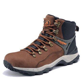 Aquatwo รองเท้าหนังแท้ กันน้ำอย่างดี สำหรับลุยป่า ปีนเขา รุ่นS937 (สีน้ำตาลเข้ม)