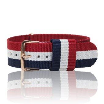 Assembly72 สายนาฬิกา นาโต้ Nato straps - Navy/White/Red