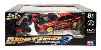 Auldey RC Drift Series D High Speed System Race Tin Drift RC Car รถแข่ง ดริฟท์ บังคับวิทยุตราเพชร 1 ต่อ 24 (สีแดง)