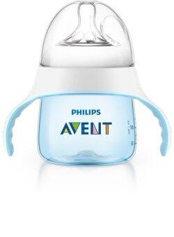 Avent ถ้วยหัดดื่ม 5oz พร้อมจุกนมและจุกหัดดื่ม รุ่น natural - สีฟ้า
