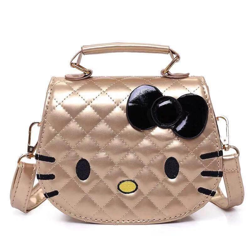 กระเป๋าเป้ นักเรียน ผู้หญิง วัยรุ่น ราชบุรี Hello Kitty Bow Bag For Girls PU Leather Crossbody Shoulder Bag Handbags Flap Bags High Quality