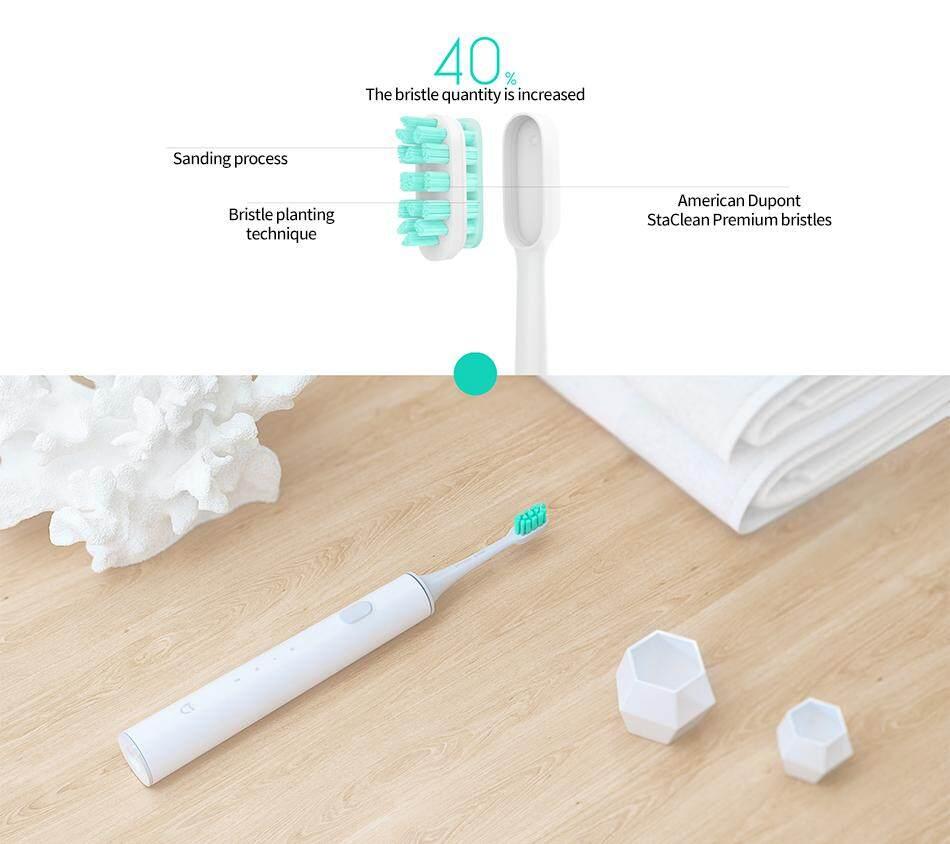 แปรงสีฟันไฟฟ้าเพื่อรอยยิ้มขาวสดใส อุทัยธานี Original Xiaomi Mijia Sound Wave Electric Toothbrush Smart Sonic Toothbrush Waterproof Wireless Charging Mi Home APP Control