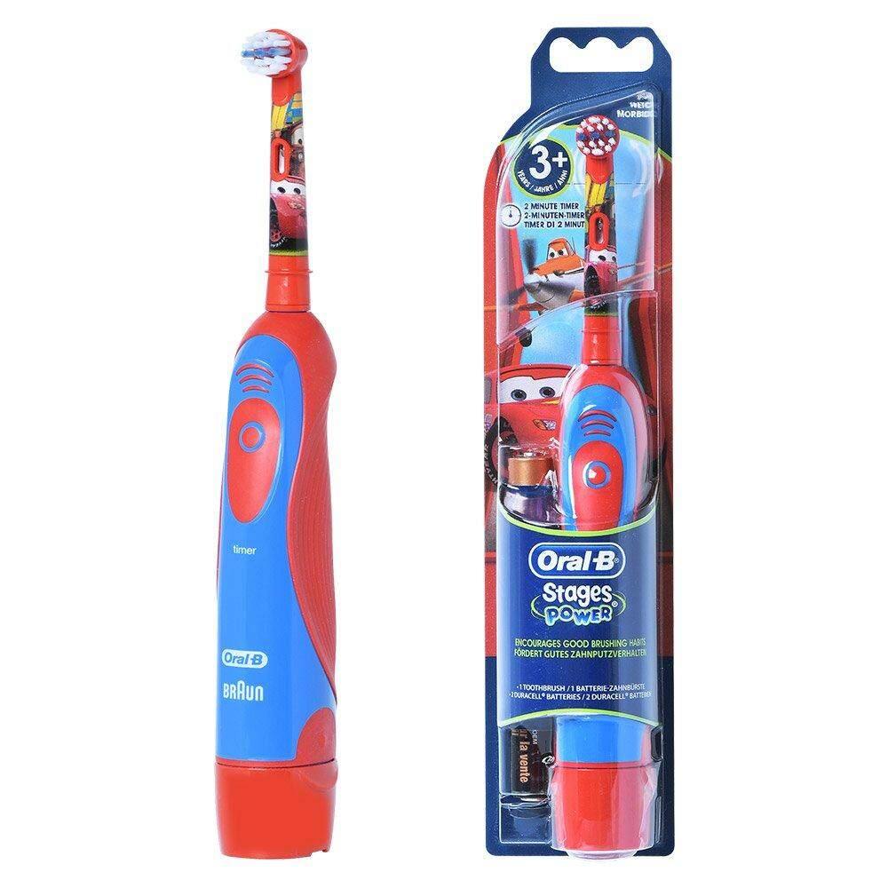 แปรงสีฟันไฟฟ้า ช่วยดูแลสุขภาพช่องปาก สงขลา Oral B Stages Electric Toothbrush Disney Cars แปรงสีฟันไฟฟ้า ลาย Disney Cars