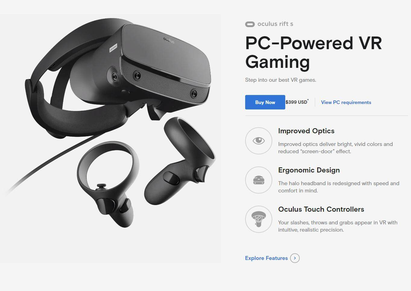 Oculus Rift S — PC-Powered VR