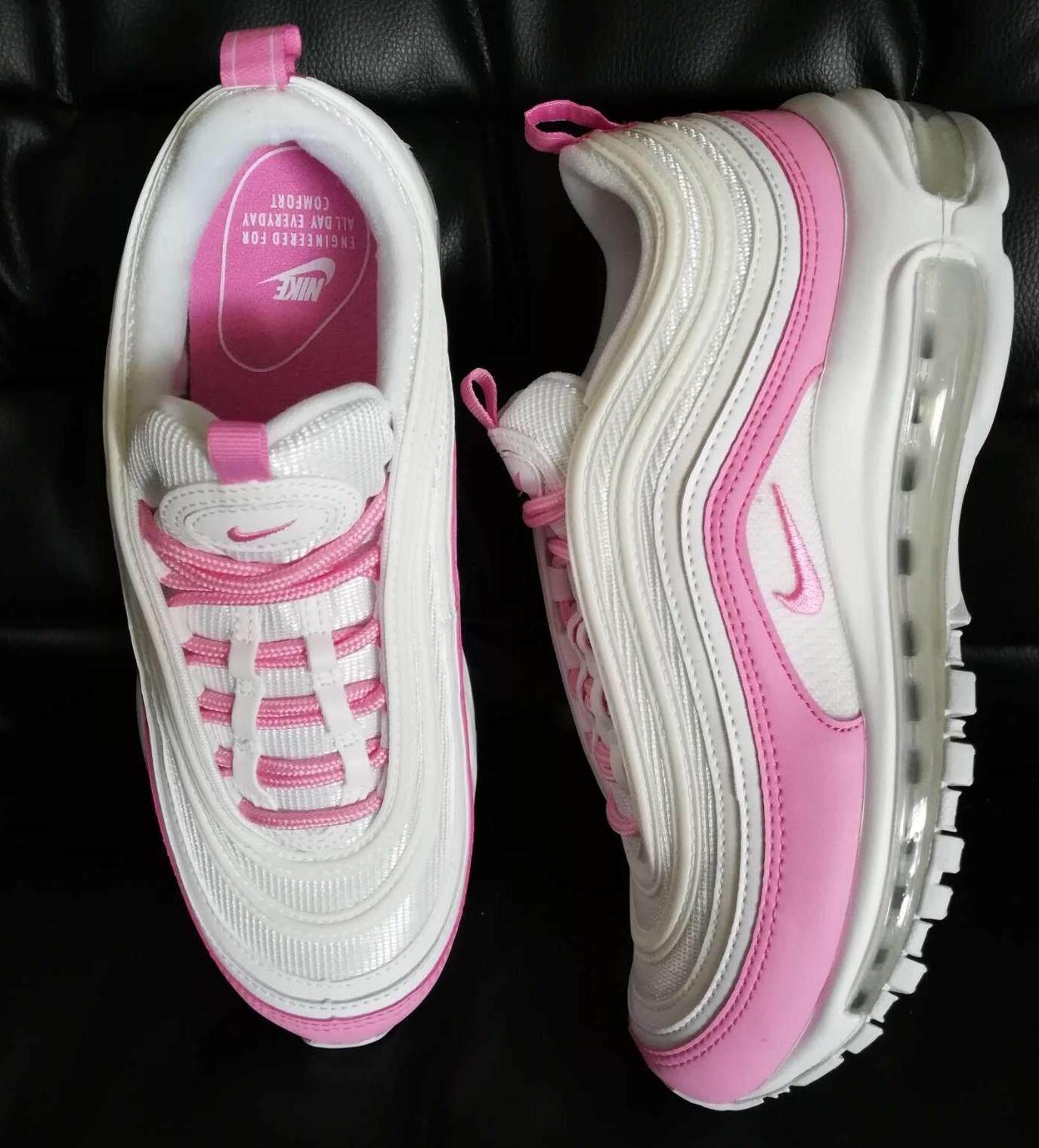 ยี่ห้อไหนดี  อุตรดิตถ์ รองเท้า nike air Max 97 in white nike pink ของแท้ นำเข้า 100%