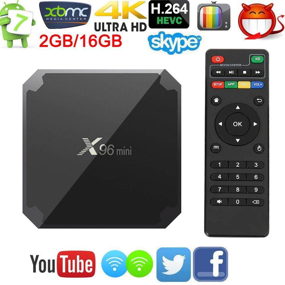 ยี่ห้อนี้ดีไหม  เพชรบูรณ์ 【 X96 mini】 กล่องแอนดรอยด์รุ่นใหม่ปี Android Smart TV Box X96 mini Android 7.1 TV Box 2GB 16GB Amlogic S905W Quad Core 2.4GHz WiFi Set top box 1GB8GB+แอพดูฟรีทีวีออนไลน์ ละคร ย้อนหลัง ฟังเพลง ยูทูป กูเกิล เฟซบุ๊ค