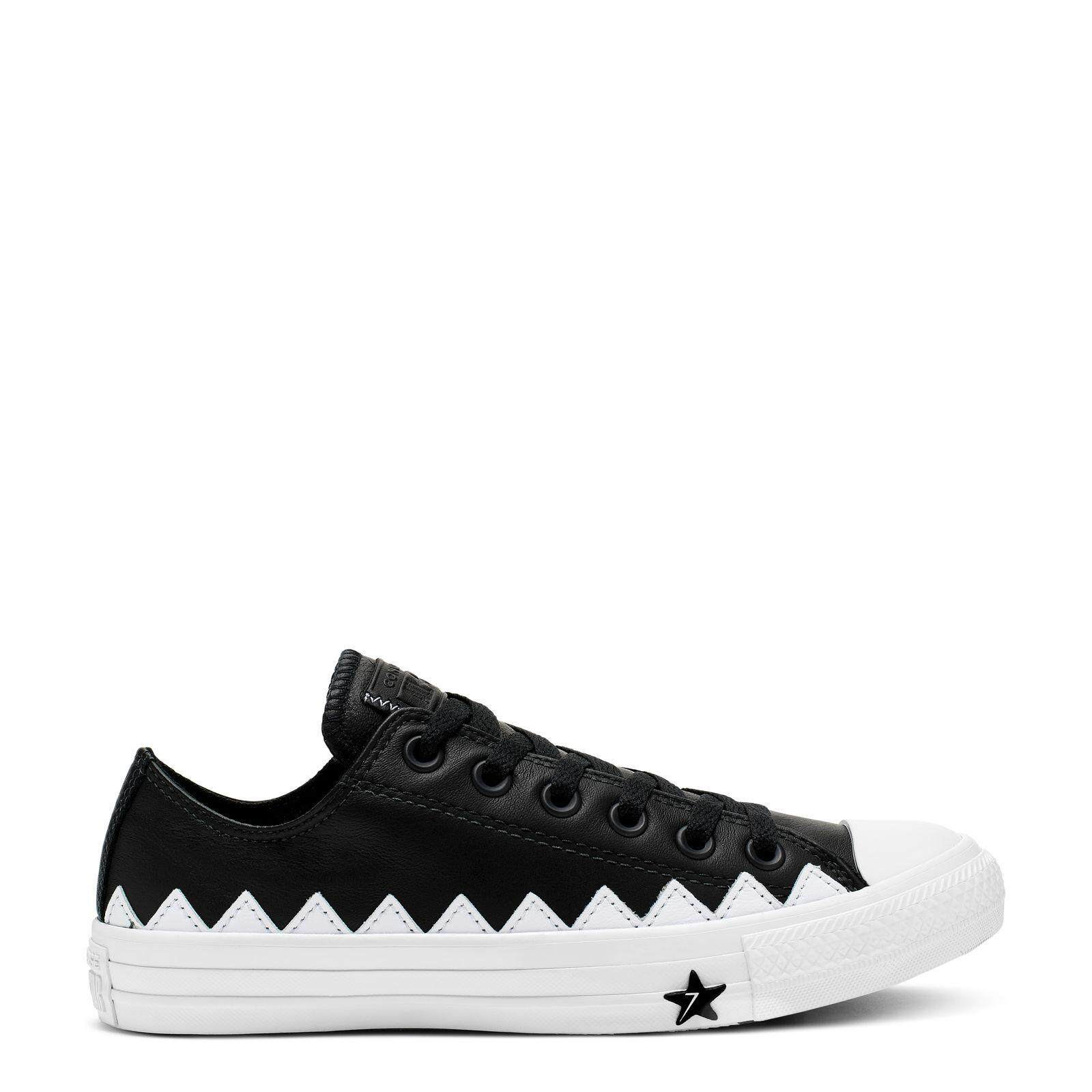 ยี่ห้อไหนดี  ชุมพร CONVERSE CHUCK TAYLOR ALL STAR MISSION-V - OX - BLACK/WHITE/WHITE - WOMEN - 565369C - 565369CF9BK
