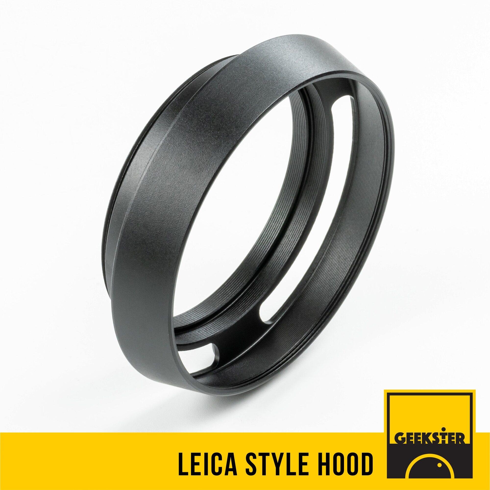 Hood เหล็กทรงไลก้า 37mm / 39mm / 40.5mm / 43mm / 46mm / 49mm / 52mm / 55mm / 58mm ( สำหรับ บังแสง ) ( แสงจ้า ) ( 37 mm / 40.5 mm / 43 mm / 46 mm / 49 mm / 52 mm / 55 mm / 58 mm ) ( Geekster )