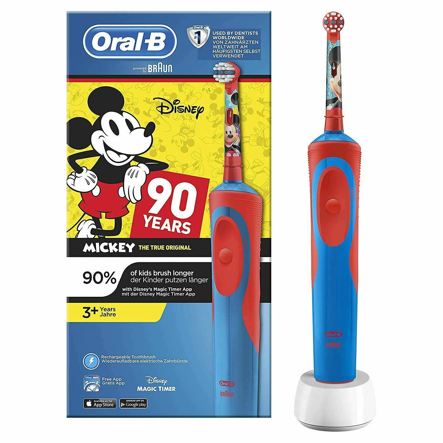 แม่ฮ่องสอน Oral B Kids Electric Toothbrush with Magic Timer  Mickey Mouse 90 Years
