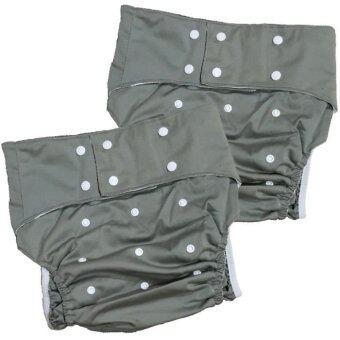 BABYKIDS95 กางเกงผ้าอ้อมผู้ใหญ่ ฟรีไซ เซ็ท 2 ตัว (สีเทา)
