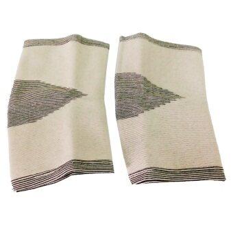 Bamboo Yarnแถบรัด หัวเข่า ไหมไผ่ รุ่นAS-52 Size ( สีเทา )