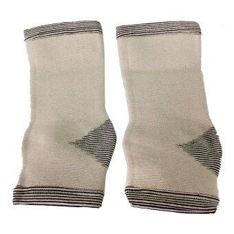 Bamboo Yarn แถบรัด ข้อเท้า ไหมไผ่รุ่น AS-51 Size ( สีเทา )