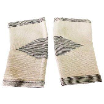 Bamboo Yarn แถบรัด ข้อศอก ไหมไผ่ รุ่นAS-55 Size ( Black )