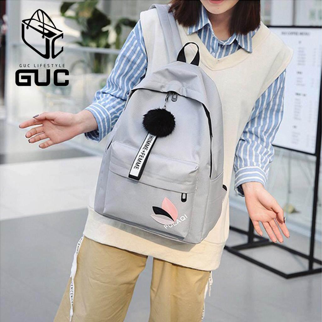 เพชรบุรี GUC กระเป๋าเป้สีสันสวยน่ารักมีปอมๆสุดคิววว์ B603  กระเป๋าสะพาย กระเป๋าสะพายหลัง