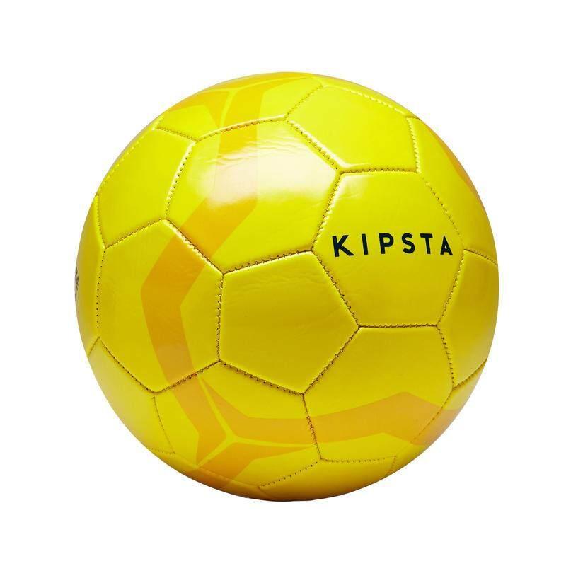 สอนใช้งาน  มหาสารคาม ลูกฟุตบอล ฟุตบอลหนัง football รุ่น FIRST KICK เบอร์ 4 สีเหลือง (สำหรับเด็กอายุ 8 ถึง 12 ปี) แถมเข็มสูบลมมูลค่า 30 บาท