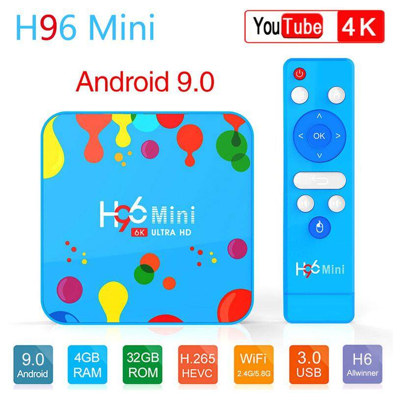 ทำบัตรเครดิตออนไลน์  นครสวรรค์ H96 Mini TV BOX 4GB+128GB Android 9.0 Smart Set Top Allwinner H6 Quad Core 6K H.265 Wifi HD Google Player Youtube