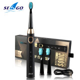 แปรงสีฟันไฟฟ้าเพื่อรอยยิ้มขาวสดใส น่าน SEAGOแปรงสีฟันไฟฟ้า แปรงสีฟันไฟฟ้าสำหรับเดินทาง Electric Toothbrushแปรงสีฟันไฟฟ้าสมาร์ทฟันอเมซอนท่องเที่ยวเครื่องชาร์จไฟฟ้าอัลตราโซนิกทำความสะอาดฟัน Electric Tooth Brush Rechargeable Massage Sonic Brush Portable Case Teeth Cleaning Travel Toothbrush