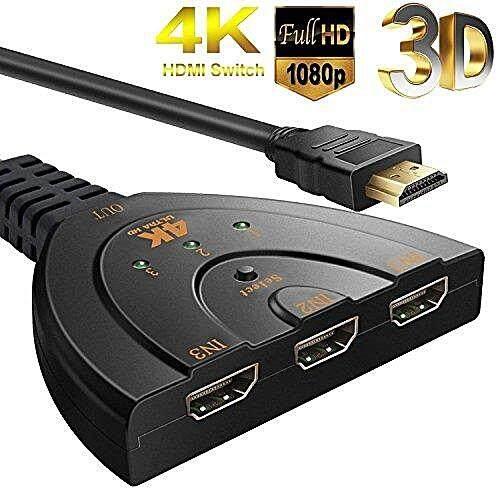 HDMI Switch IN 3 OUT 1 Port ตัวแยก HDMI 3 ทาง พร้อมสาย HDMI