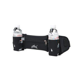 BEGINS กระเป๋าคาดเอว ออกกำลังกาย พร้อมช่องใส่ขวดน้ำ Belt Bag With Bottle Holder ( สีดำ )