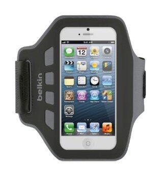 Belkin EaseFit Armband for iPhone 5/5S สายรัดแขนออกกำลังกาย - สีดำ/เทา