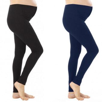 Benita Maternity-Leggings กางเกงเลกกิ้งคนท้องขายาว แพค 2 ตัว (สีดำสีกรมท่า)