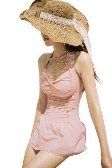 BESTBEST Korean version Women's New SexyPaddedBikini Swimsuit Swimwear ชุดว่ายน้ำ - Pink (Intl)