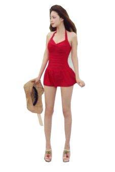 BEST Korean version Women's New SexyPaddedBikini Swimsuit Swimwear ชุดว่ายน้ำ Size L - Red (Intl)