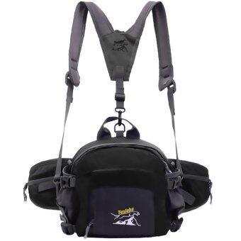 BEST Pocket Outdoor Waterproof Sport Bag Backpack กระเป๋ากีฬาคาดเอวมัลติฟังก์ชั่น แบบขยายได้ - สีดำ