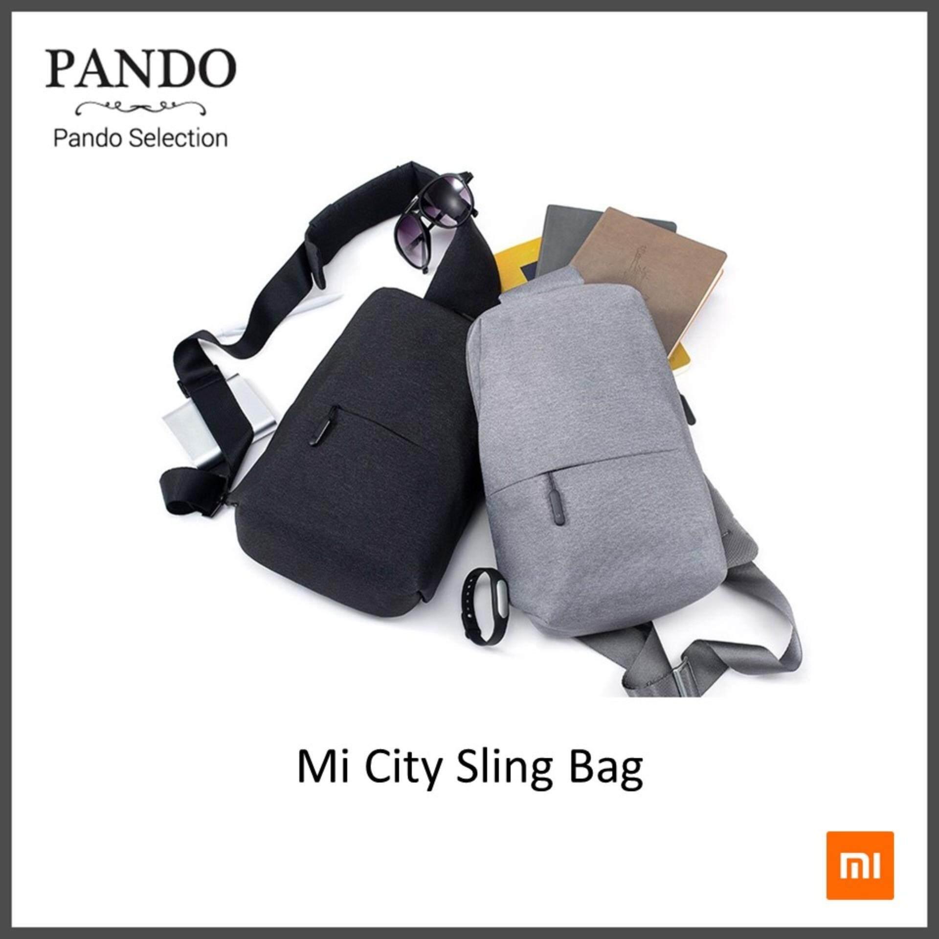 กระเป๋าถือ นักเรียน ผู้หญิง วัยรุ่น กาญจนบุรี Xiaomi Mi City Sling Bag  Dark and Light Grey  สะพายข้าง ของแท้ ดีไซน์สวย คุณภาพพรีเมียม by Pando Selection   Fanslink