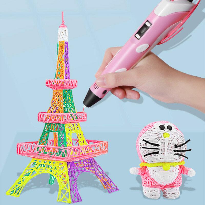 【ส่งจากกรุงเทพ】ปากกาเครื่องพิมพ์ 3 มิติ 3D Printer Pens 3D printing Pen Three D Printer Pen For Drawing With Plastic PLA/ABS Filament Creativity Gift Original Gifts 3d print pen drawing 3 มิติ