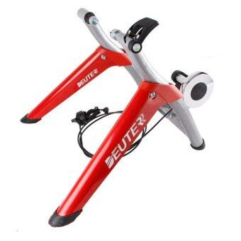 BIKE TRAINER เทรนเนอร์จักรยานรุ่นมีรีโมทปรับความหนืด รุ่น MT-06 (สีแดง)