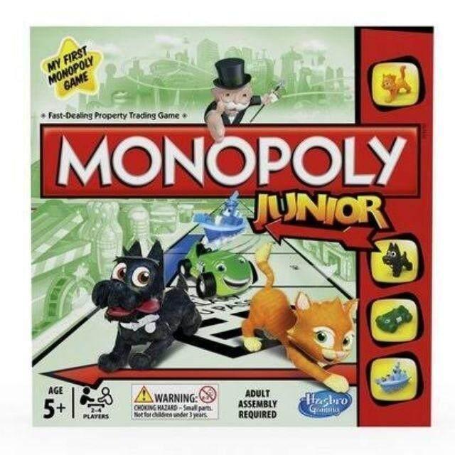 Hasbro Monopoly Junior Board Game บอร์ดเกม เกมเศรษฐี จูเนียร์  โมโนโพลี่