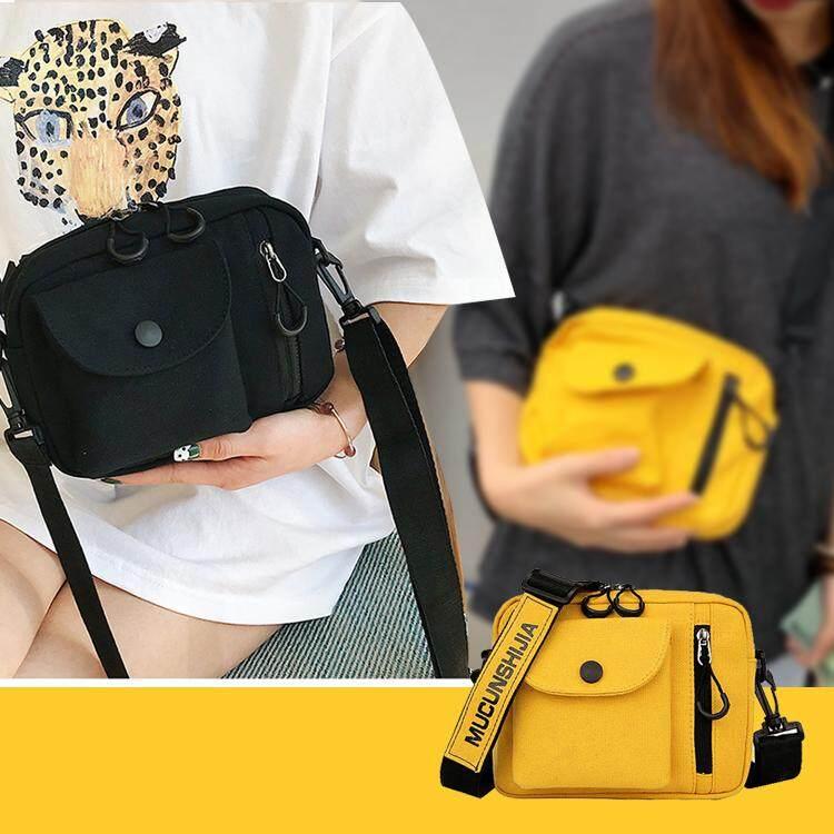 กระเป๋าเป้สะพายหลัง นักเรียน ผู้หญิง วัยรุ่น ตราด Diagonal bag casual bag 2019 Thailand popular female backpack yellow canvas bag Mobile phone bag upgrade quality is worth buying กระเป๋าแนวทแยงกระเป๋าสบาย ๆ 2019 ประเทศไทยยอดนิยมหญิงกระเป๋าเป้สะพายหลังกระเป๋าผ้าใบสีเหลืองถุงโทรศัพท์มือถือคุณภาพการอัพ