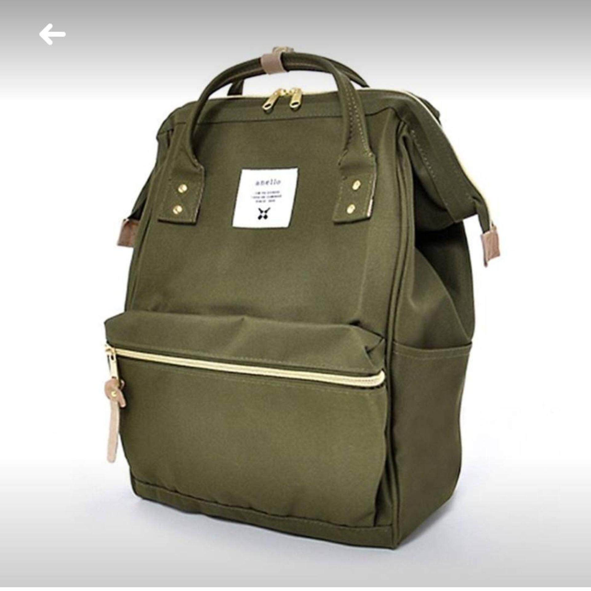 ยี่ห้อไหนดี  ปทุมธานี Anello Regular Backpack เขียวขี้ม้า