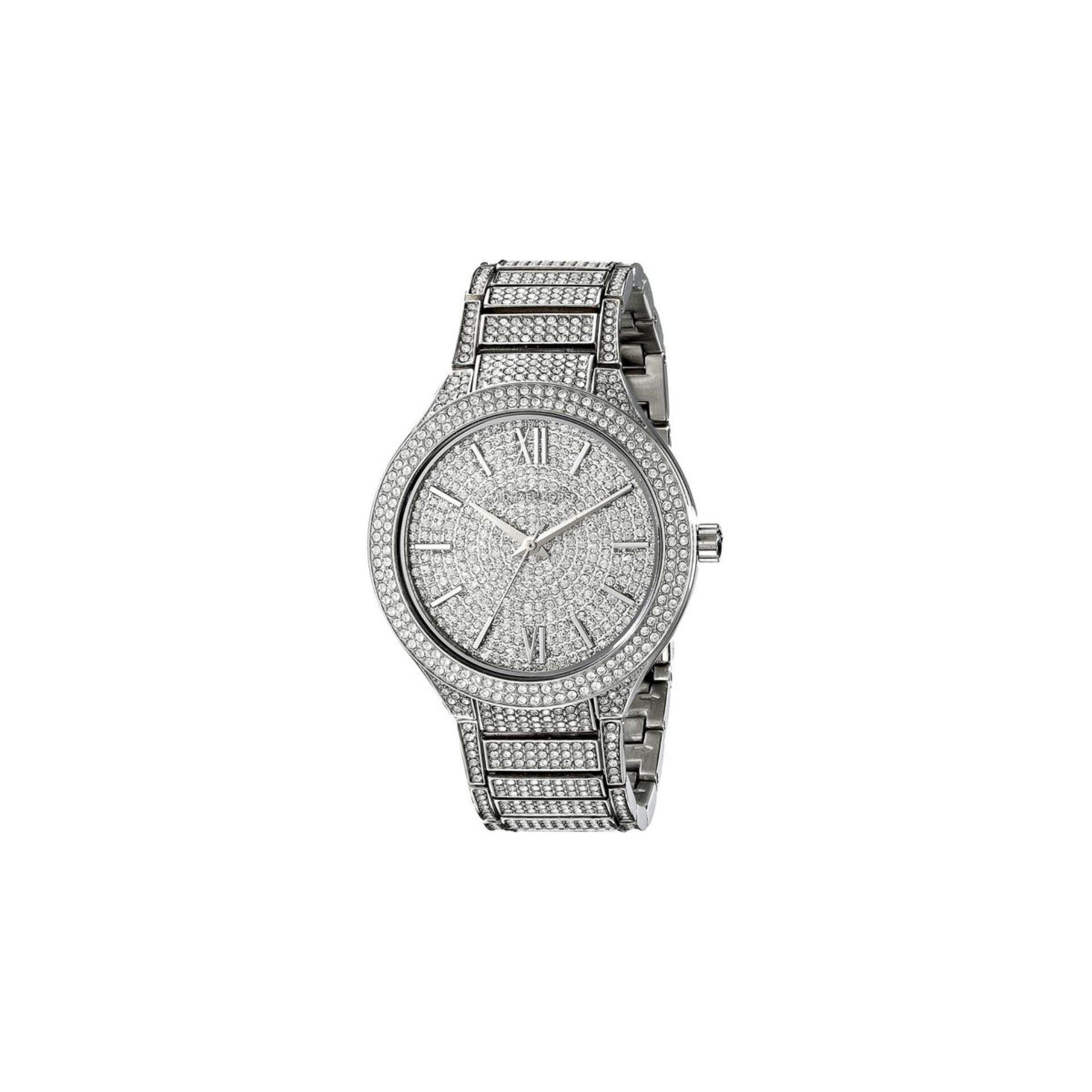 เก็บเงินปลายทางได้ Michael Kors Kerry Crystal Pave Stainless Steel Ladies Watch MK3359